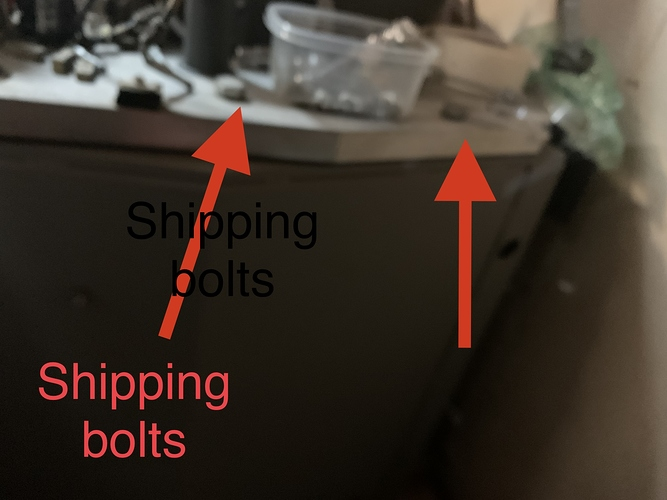 Electron shipping bolts