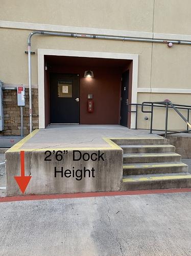 Electron dock height