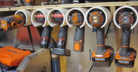 cordless tool storage